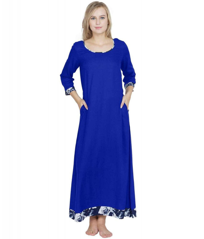 Shift Style Maxi Nighty in Royal Blue