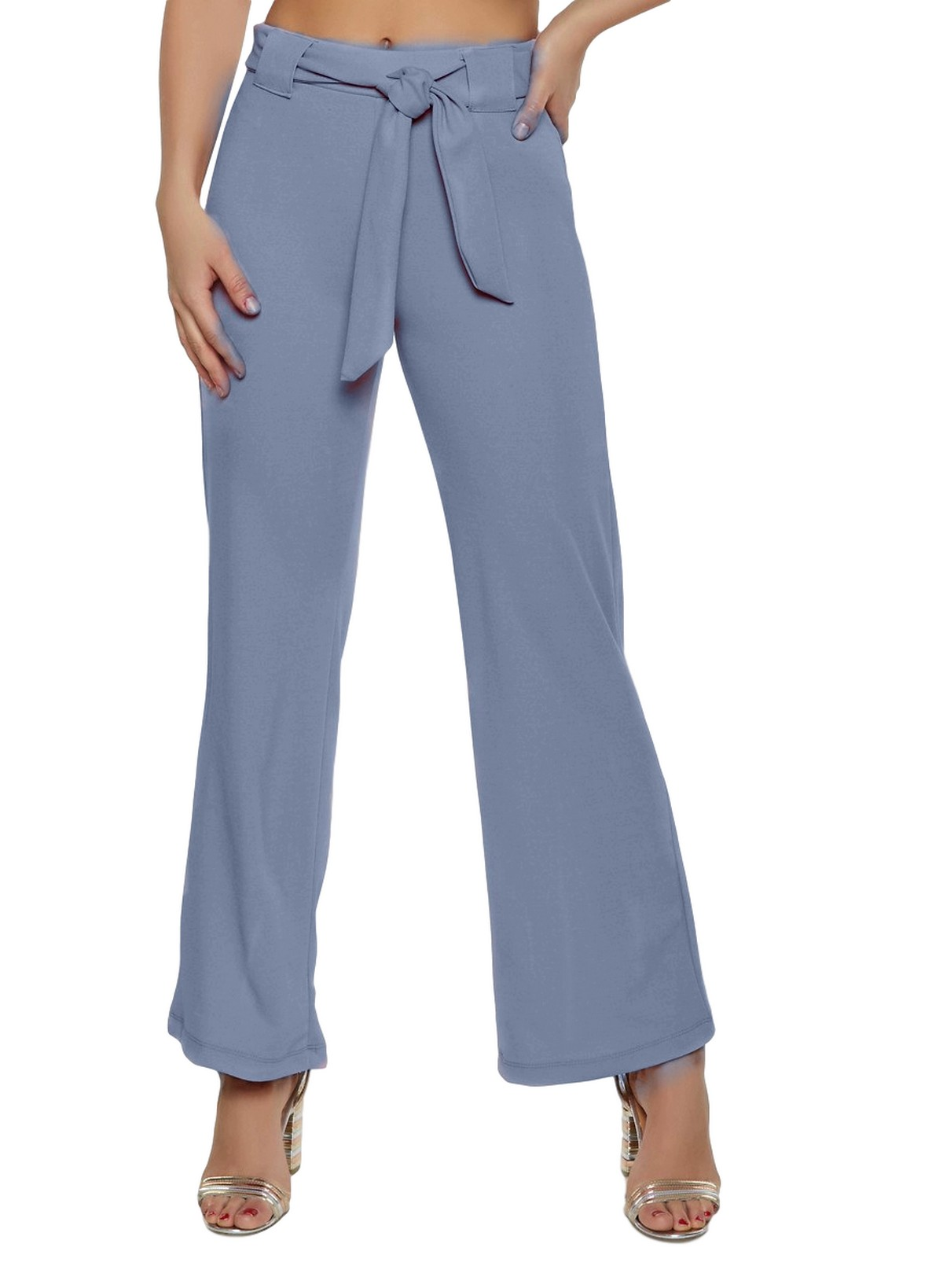 Slim Fit Culottes Trousers in Charcoal Grey