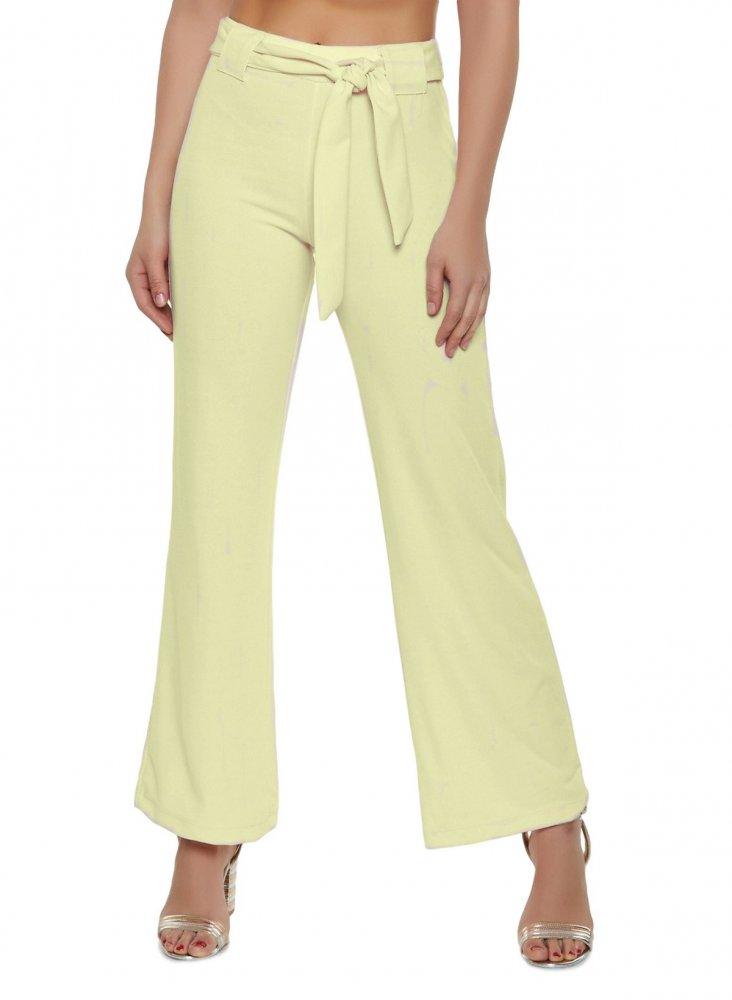 Slim Fit Culottes Trousers in Cream