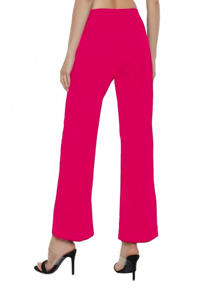 Slim Fit Culottes Trousers in Fuchsia