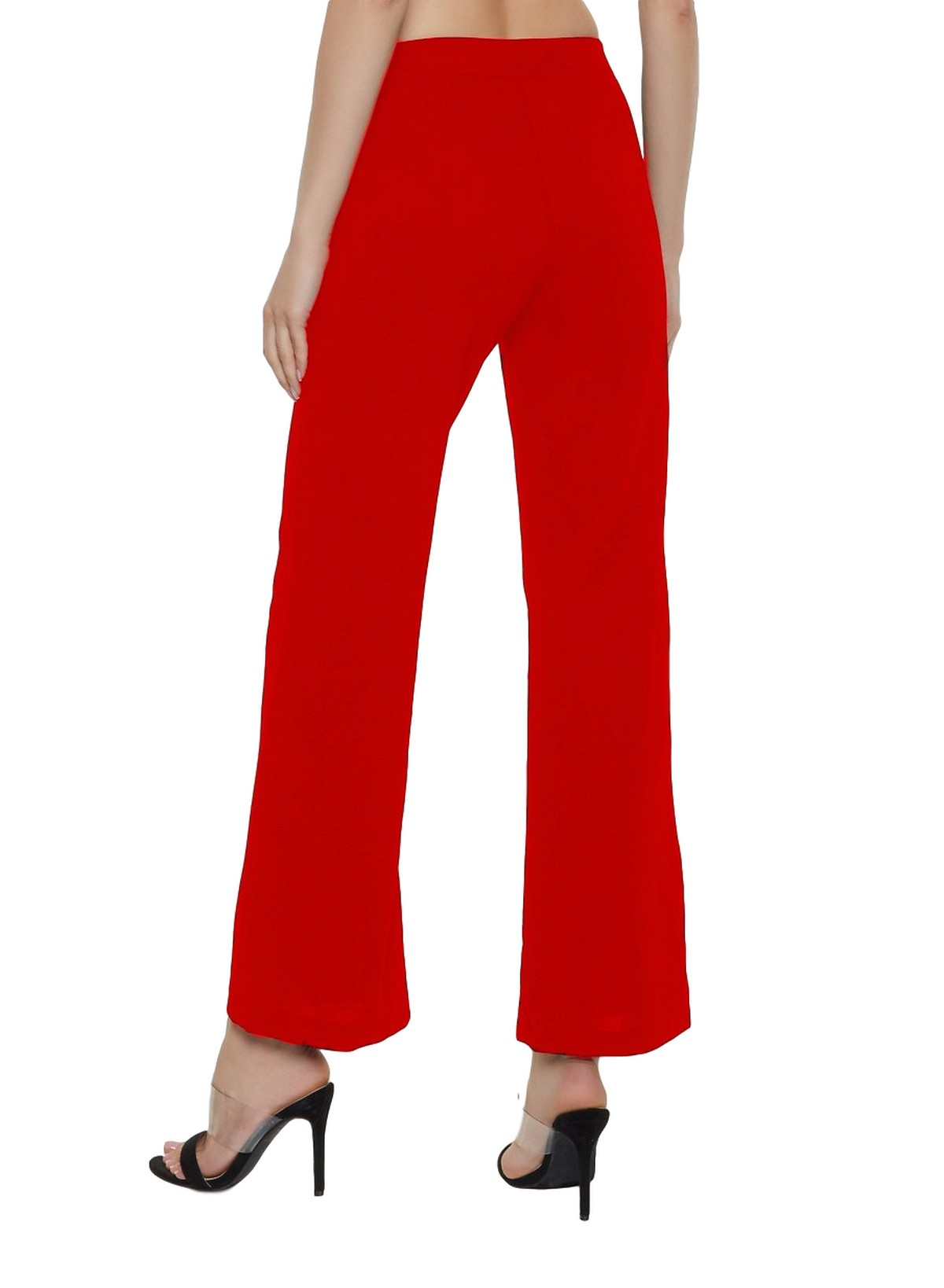 Slim Fit Culottes Trousers in Red
