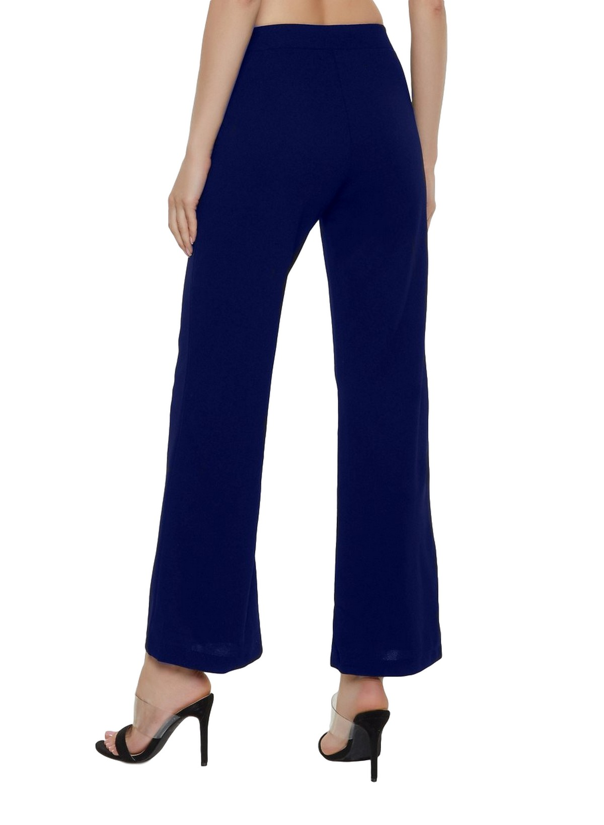 Slim Fit Culottes Trousers in Royal Blue
