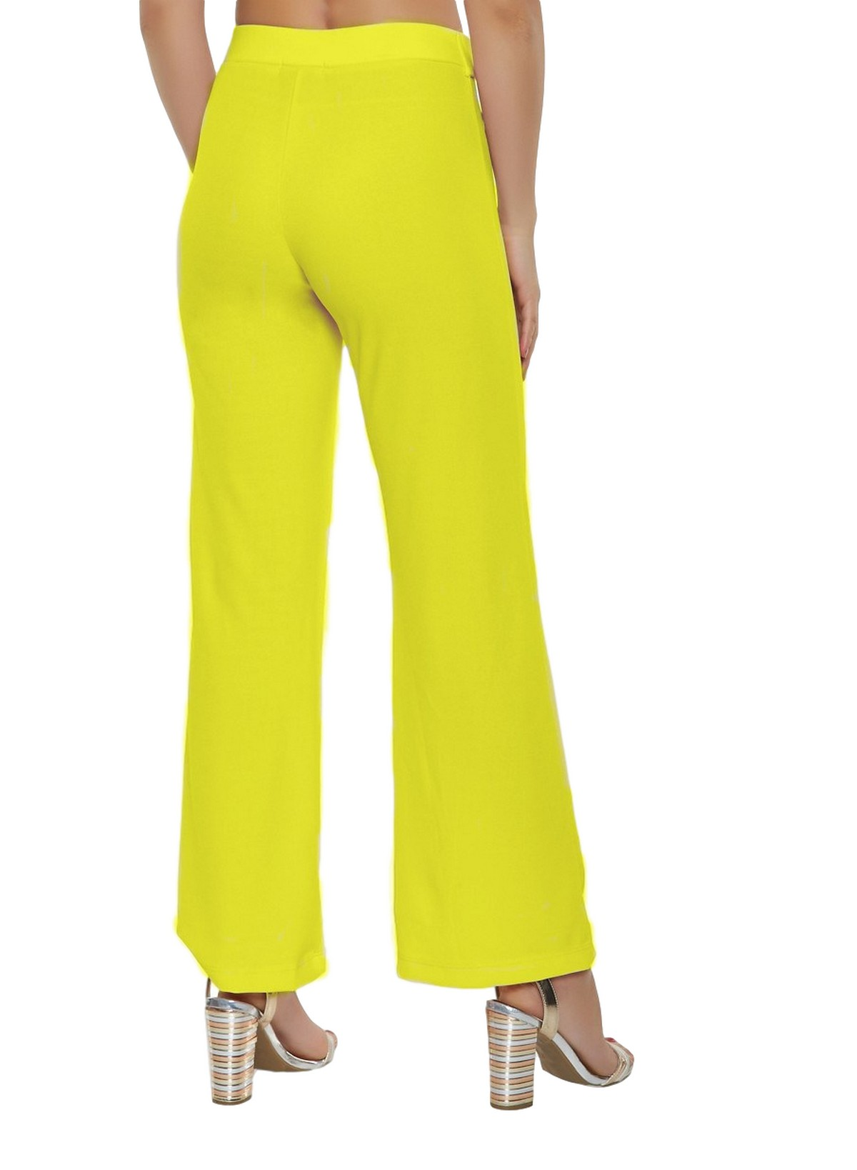 Slim Fit Culottes Trousers in Yellow