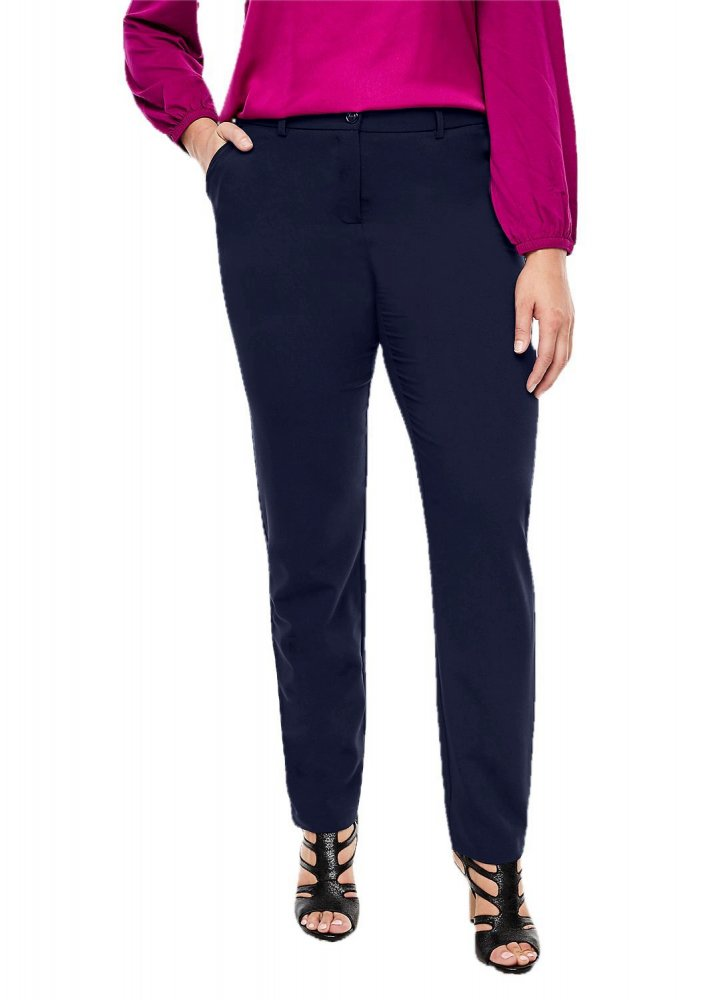 Slim Fit Tights Trousers in Dark Blue