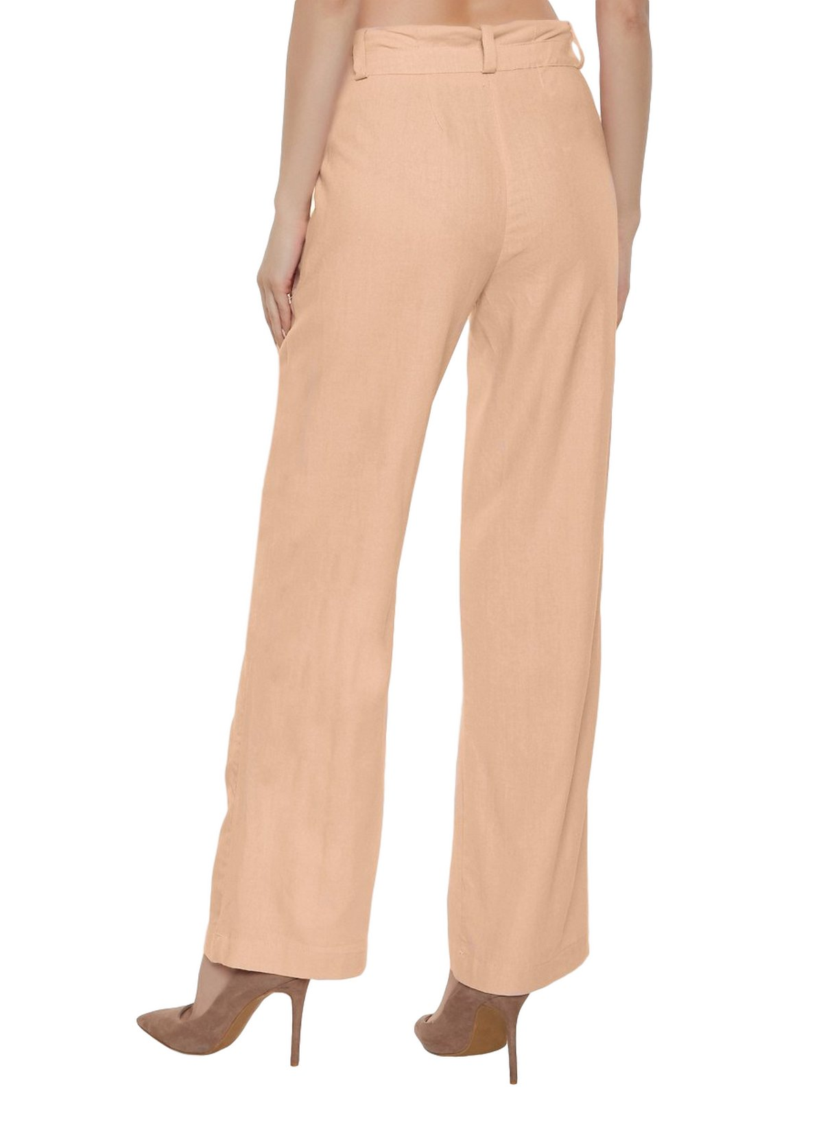 Slim Fit Tights Trousers in Peach