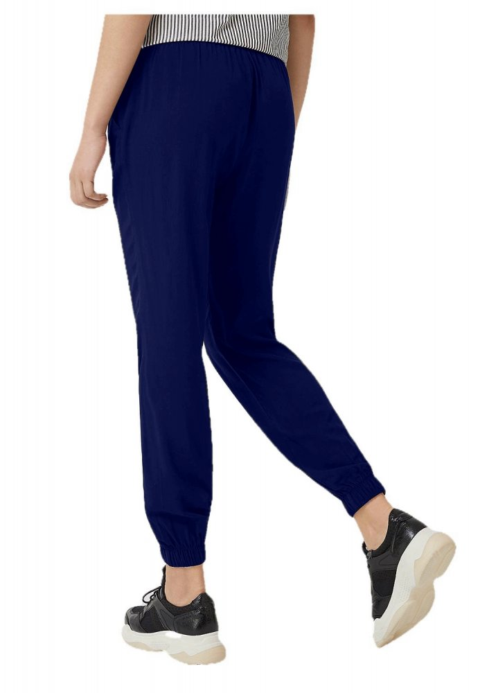 Tapered Fit Carrot Trousers in Royal Blue