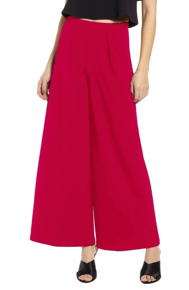 Tapered Style Palazzo Pant in Fuchsia