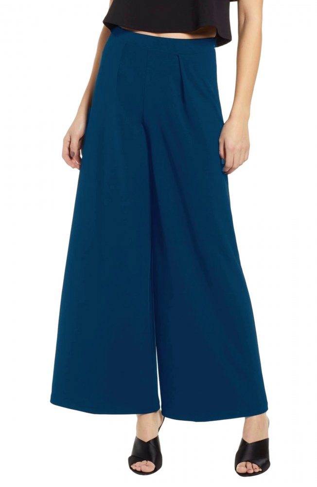 Tapered Style Palazzo Pant in Sky Blue
