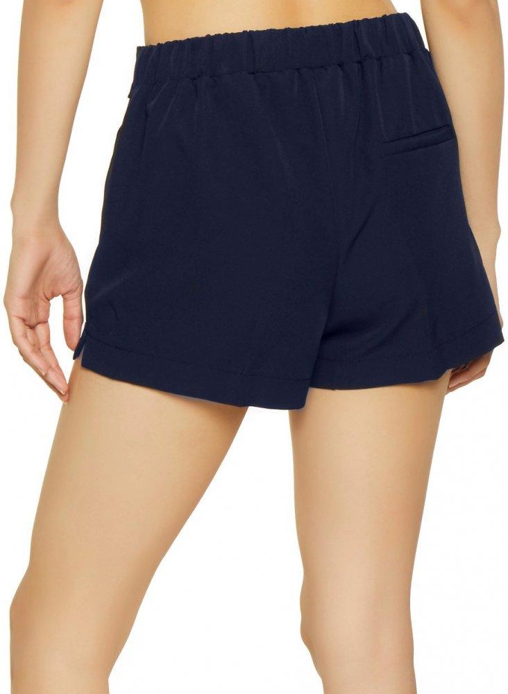 Tie Belt Chino Shorts in Dark Blue