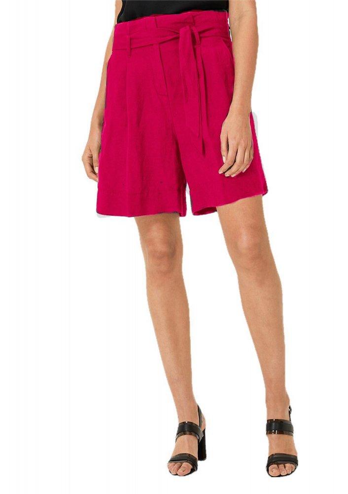 Trouser Cut Bermuda Shorts in Fuchsia