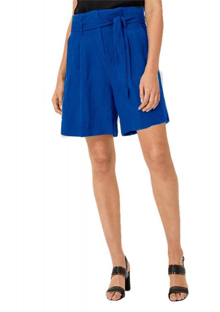 Trouser Cut Bermuda Shorts in Turquoise Blue