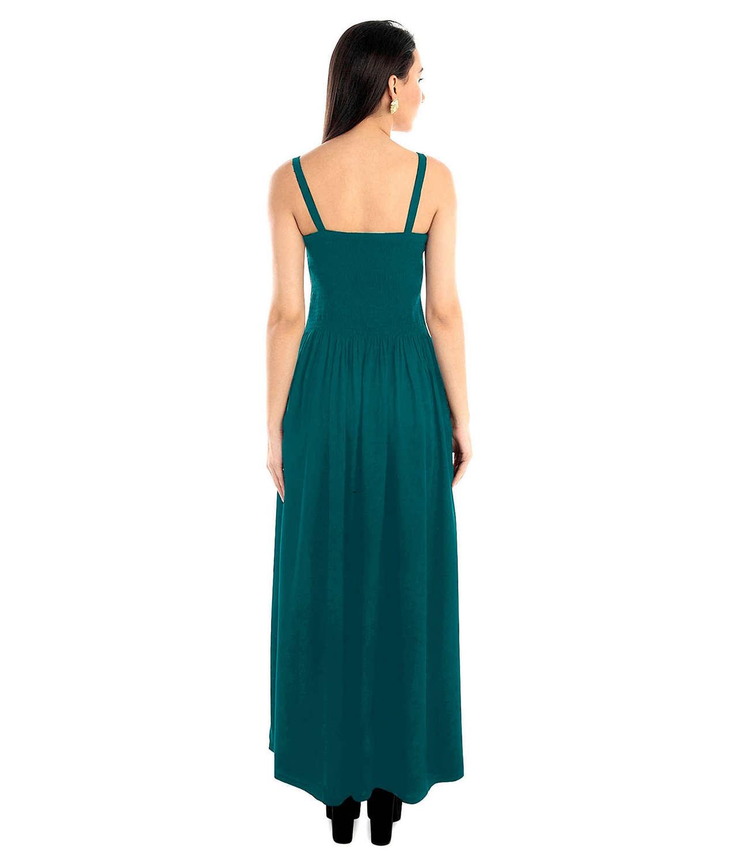 Tulip Prom Embroidered Maxi Dress in Rama Green