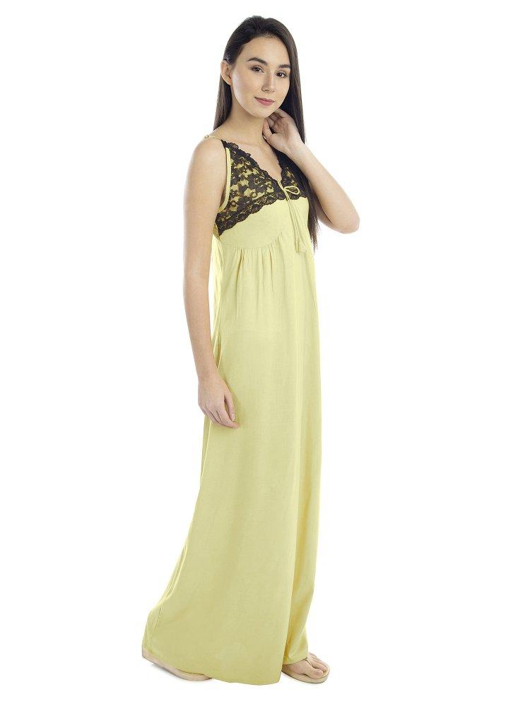 V-Neck Shoulder Strap Empire Dress in Cream