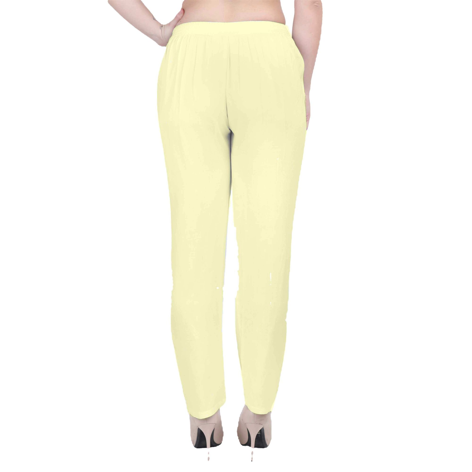 Western Fit Formal Trousers in Cream