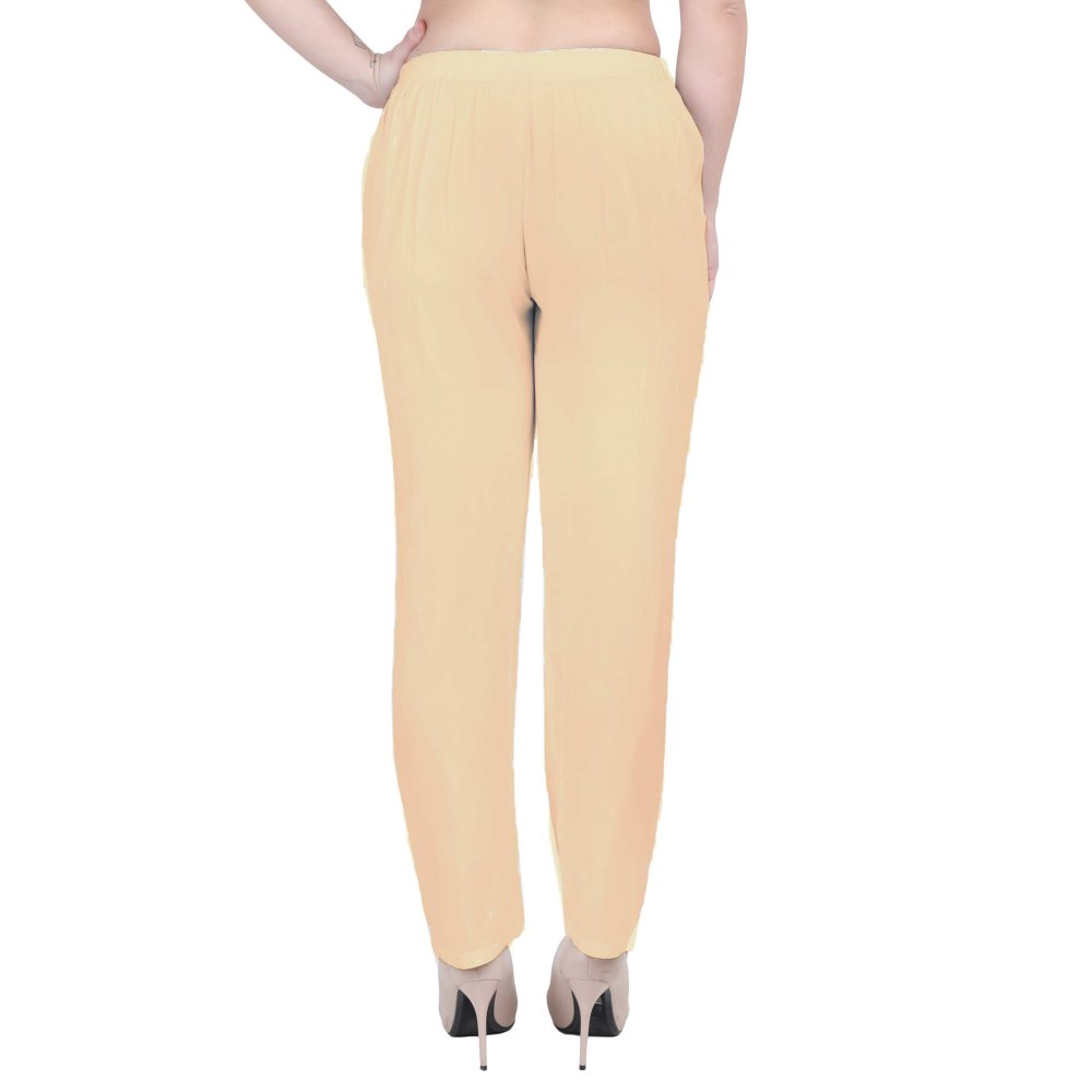Western Fit Formal Trousers in Peach