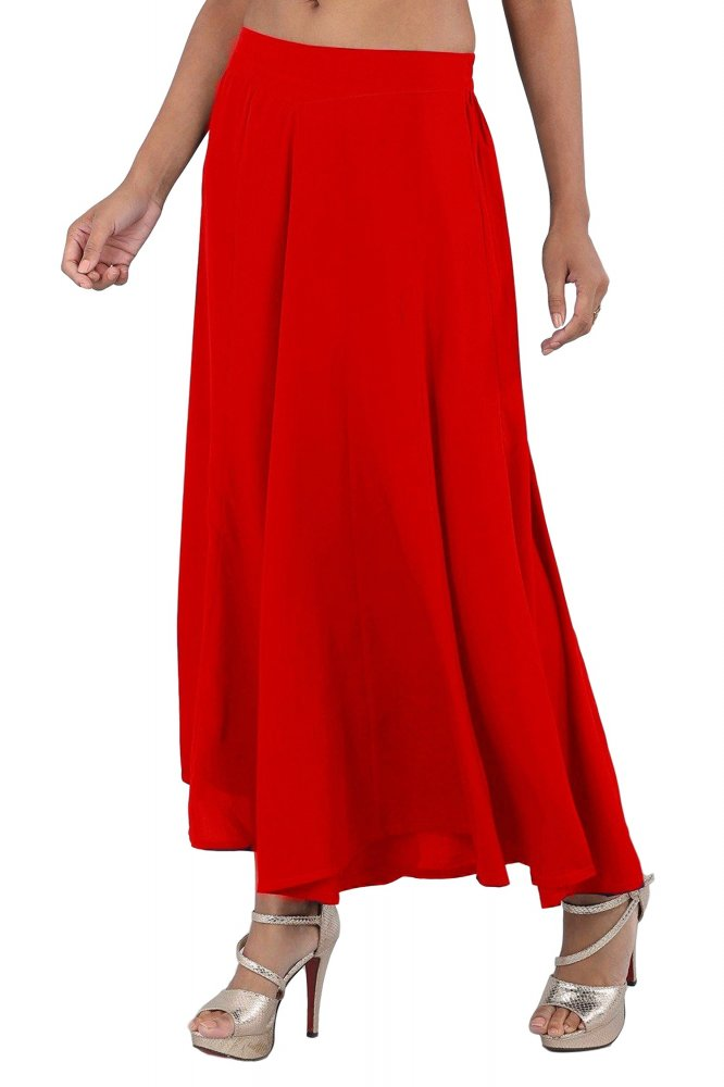 Wide Leg Loose Fit Palazzo Pant in Red