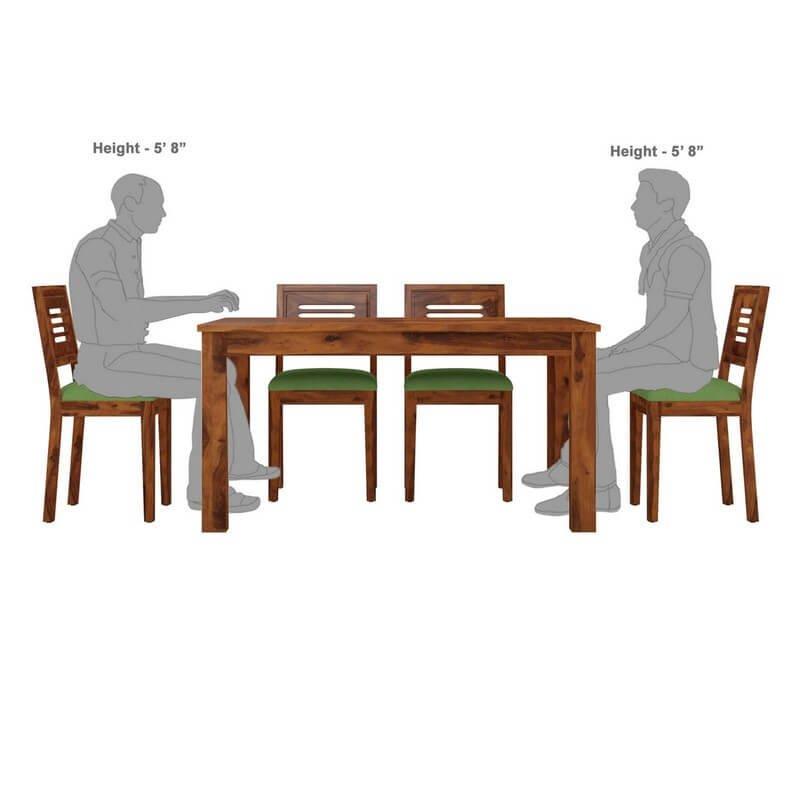 Luzon Sheesham Wood 6 Seater Dining Table