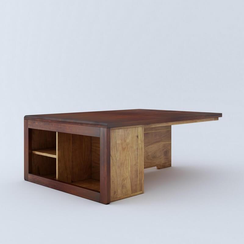 Jura  Sheesham Wood Coffee Table With Storage