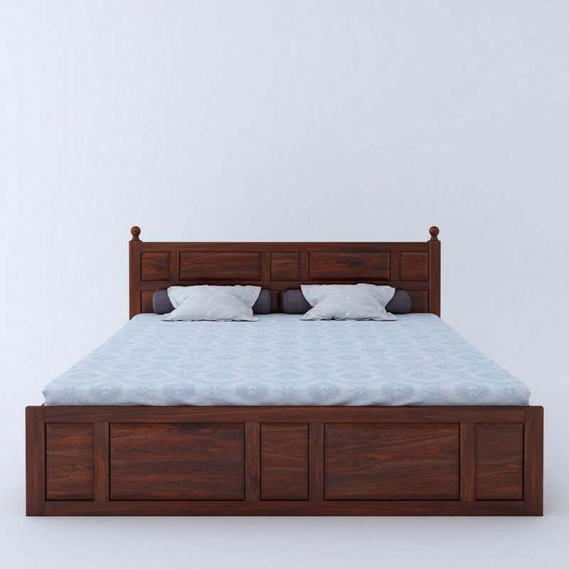 Imperial Sheesham Wood King Size Bed With Box Storage
