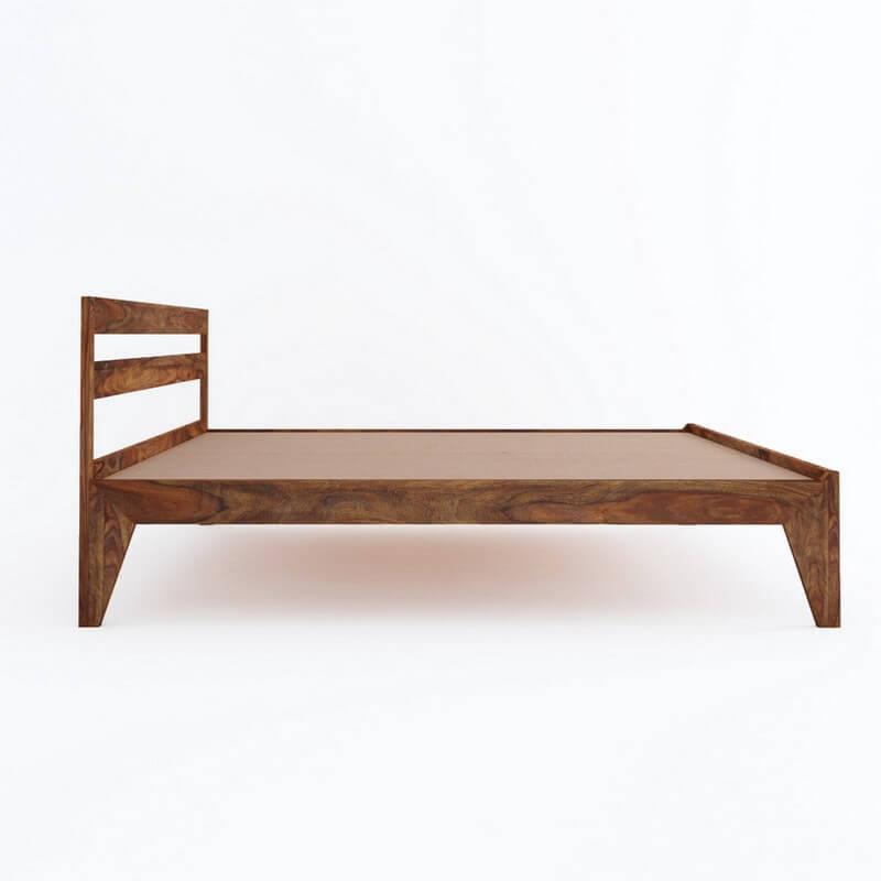 Seoul Sheesham Wood King Size Bed Without Storage