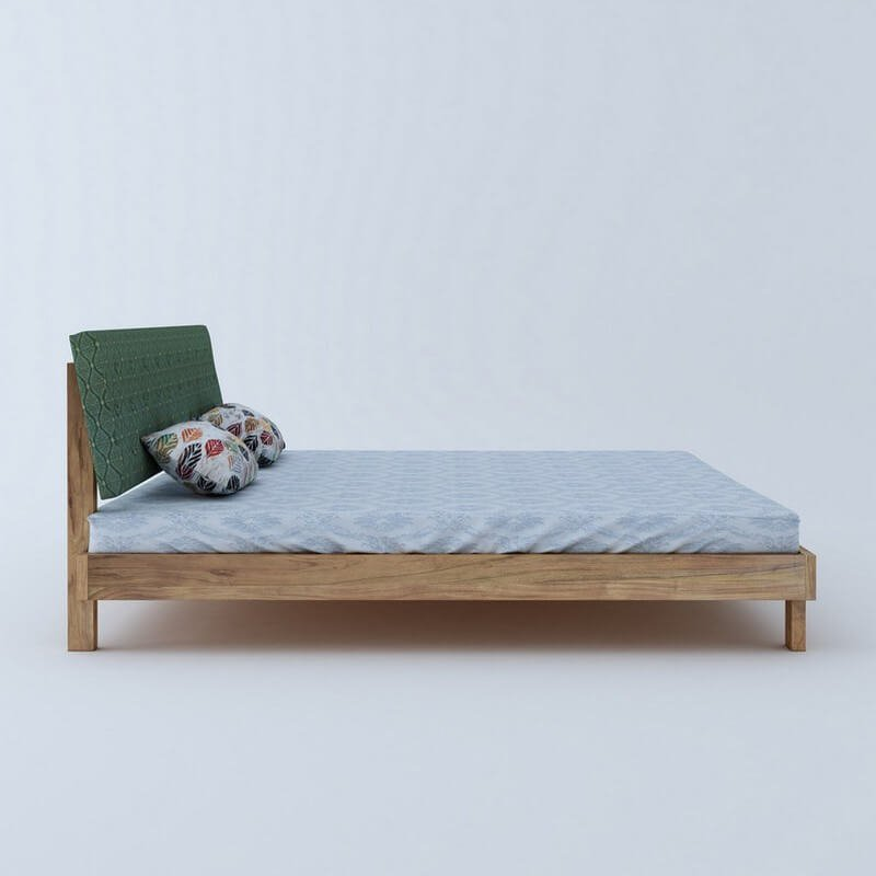 Rota Green Sheesham Wood King Size Bed