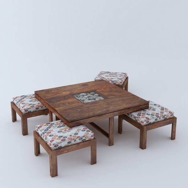 Fogo Sheesham Wood 4 Seater Coffee Table