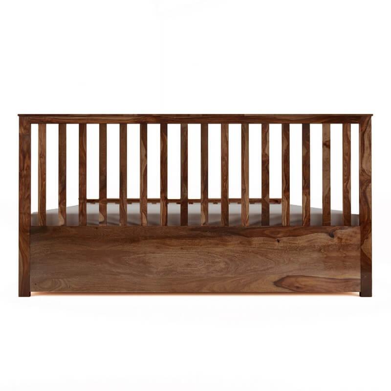 Manor Sheesham Wood King Size Bed With Box Storage