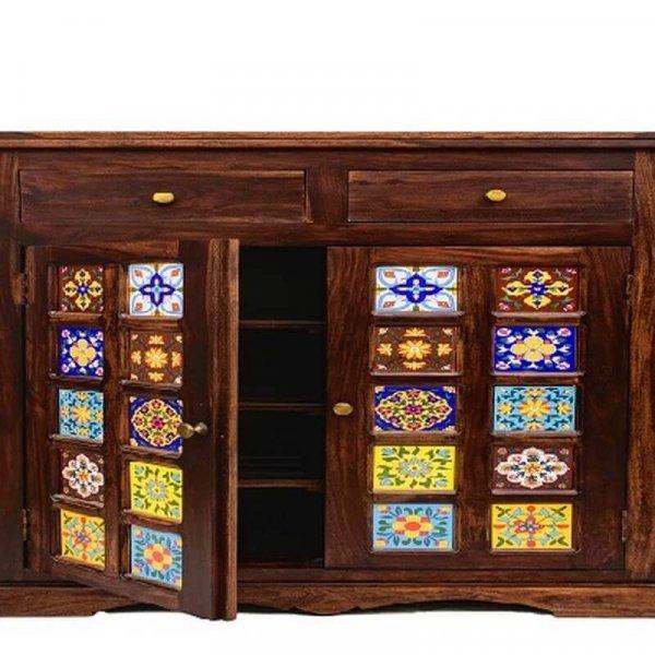 Milos Solid Wood Shoe Cabinet