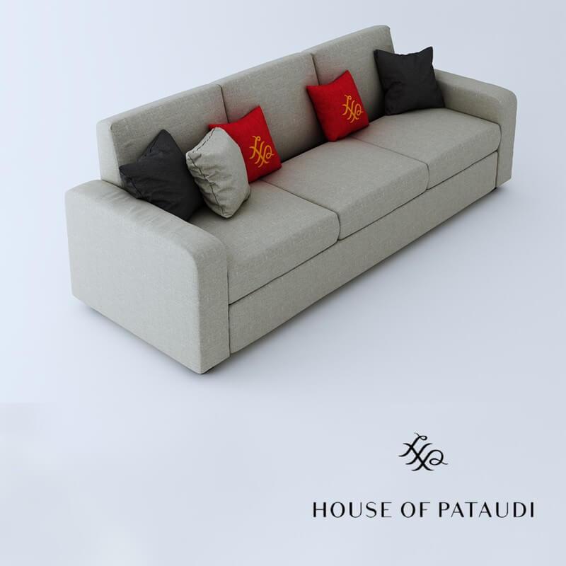 Burrey 3 Seater Fabric Sofa Set