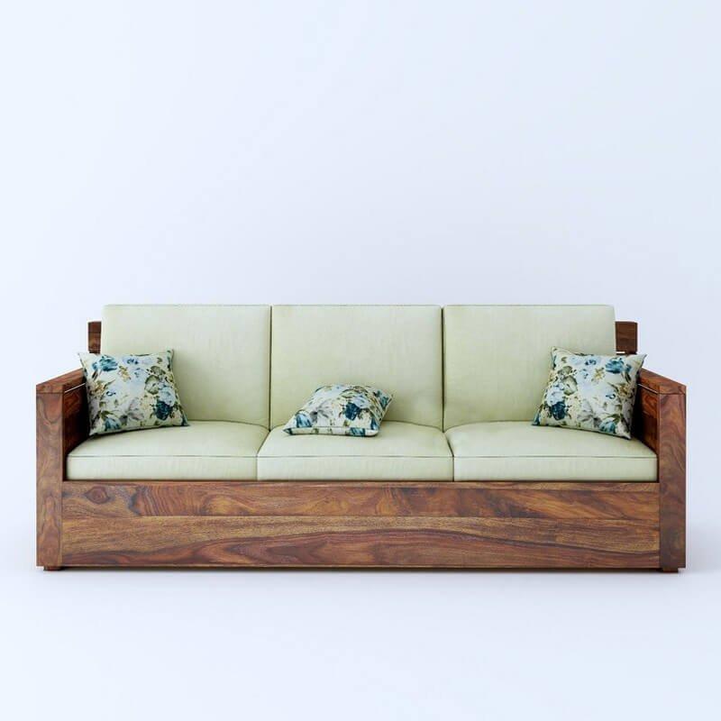 Nelson Sheesham Wood Sofa Set