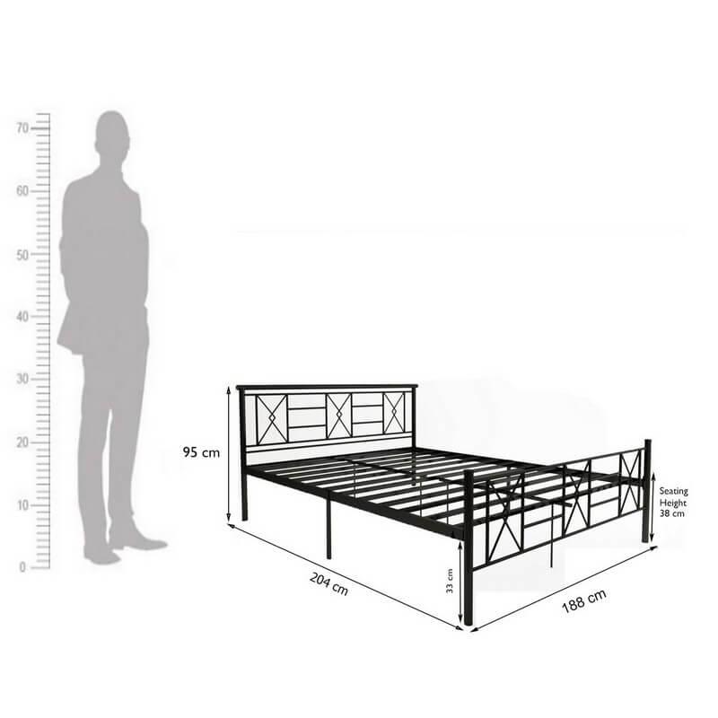 Sark Metal Bed