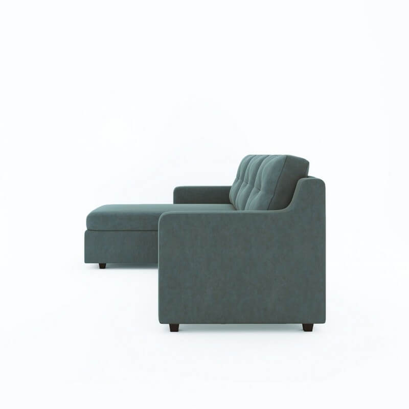 Islay Salt Blue L Shape Fabric Sofa Set