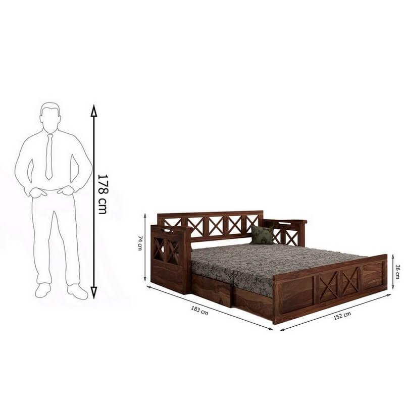 Aegina Sheesham Wood Sofa Cum Bed