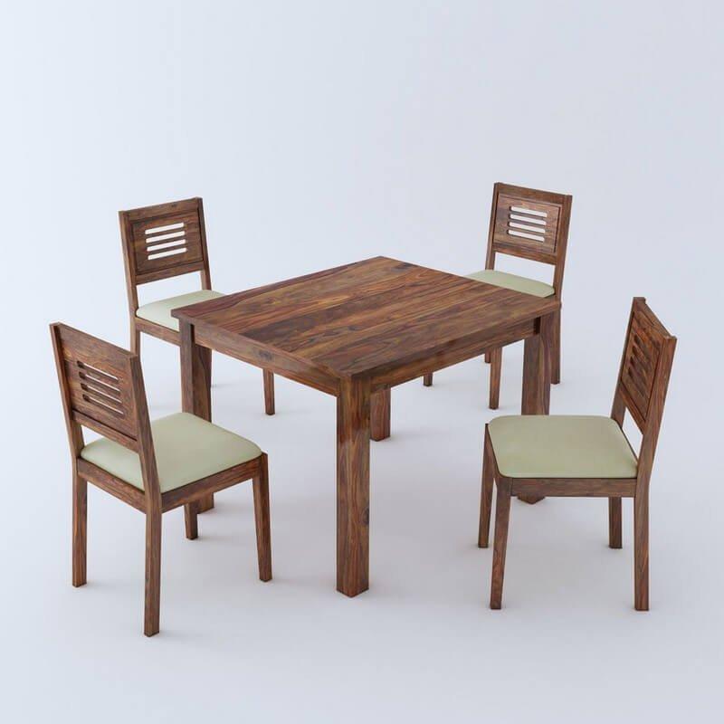 Luzon Sheesham Wood 4 Seater Dining Table