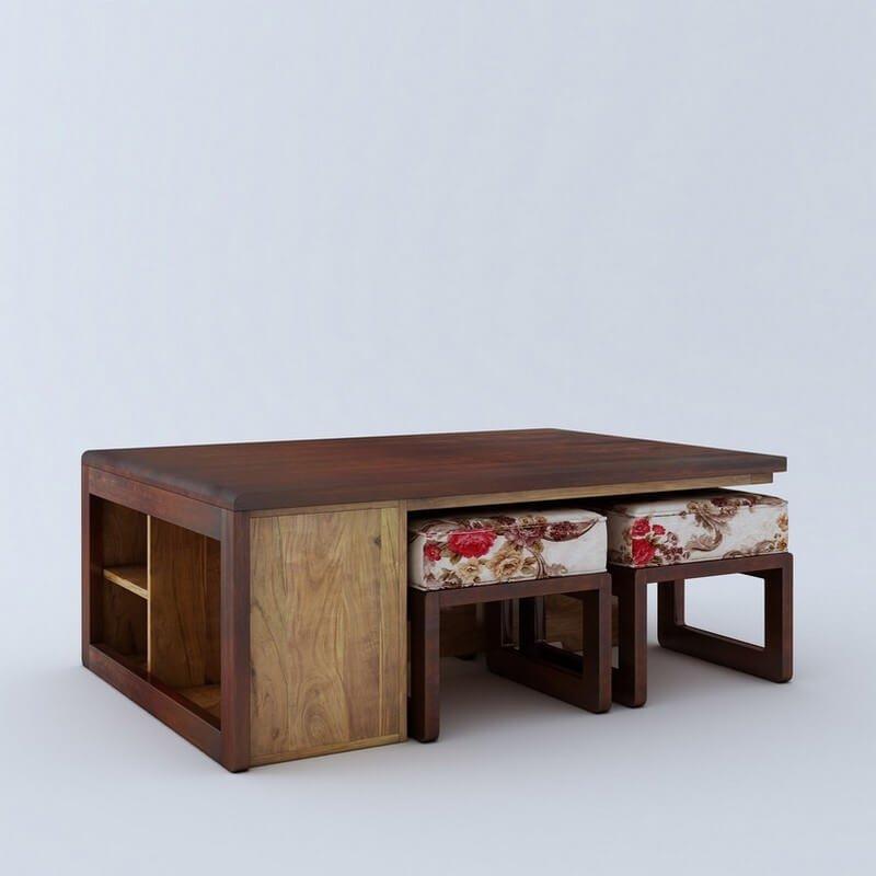 Jura  Sheesham Wood 4 Seater Coffee Table