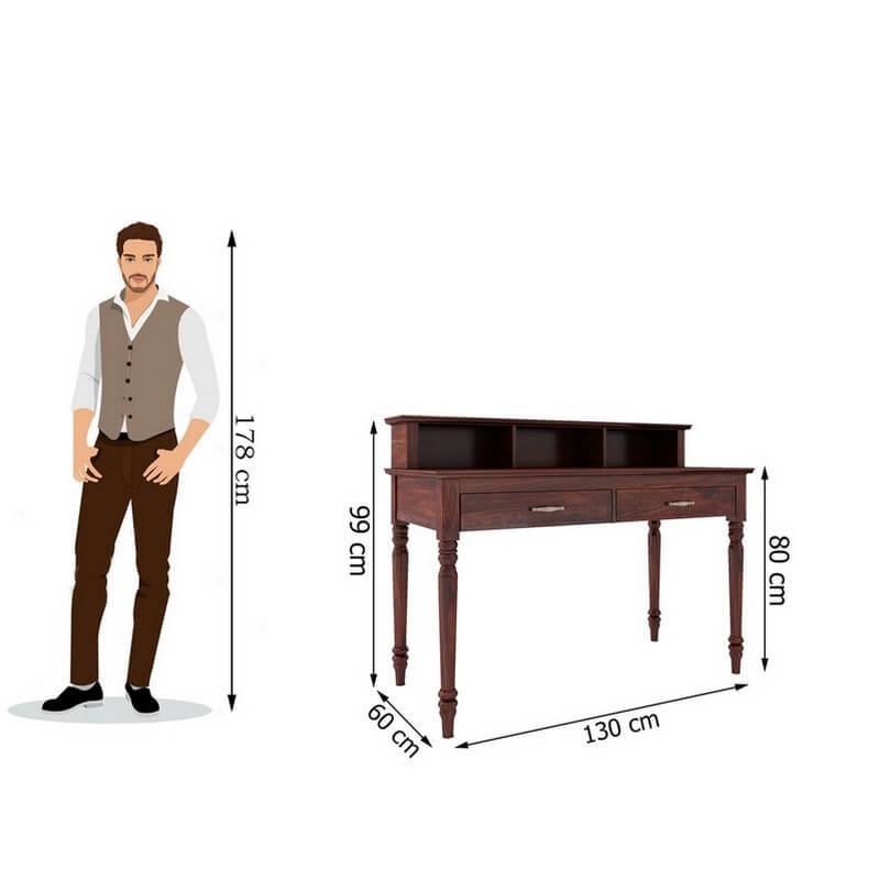 BaronialSheesham Wood Study Table