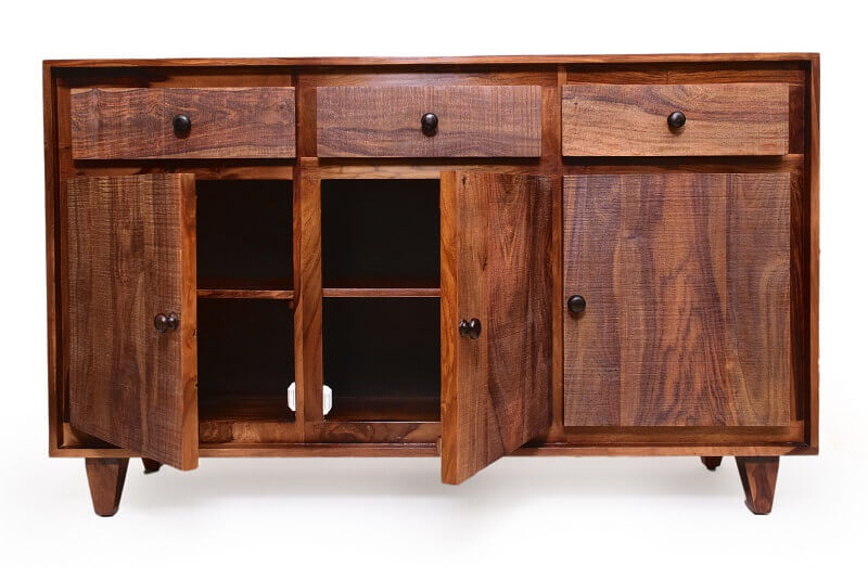 Regal Wooden Chest of Drawers