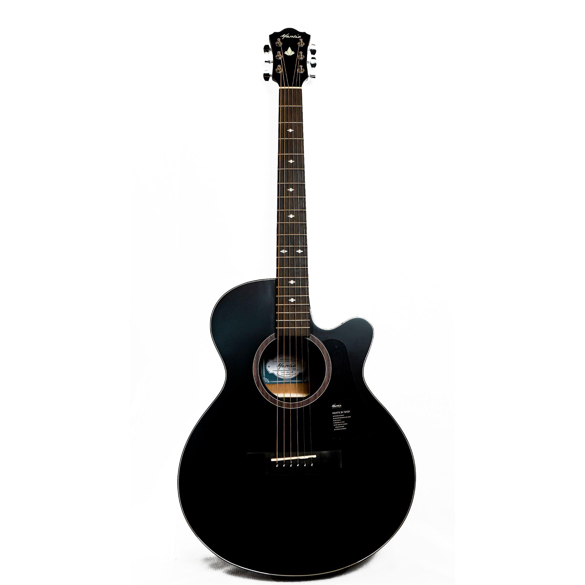 Mantic MG1C  Acoustic Guitar -Black