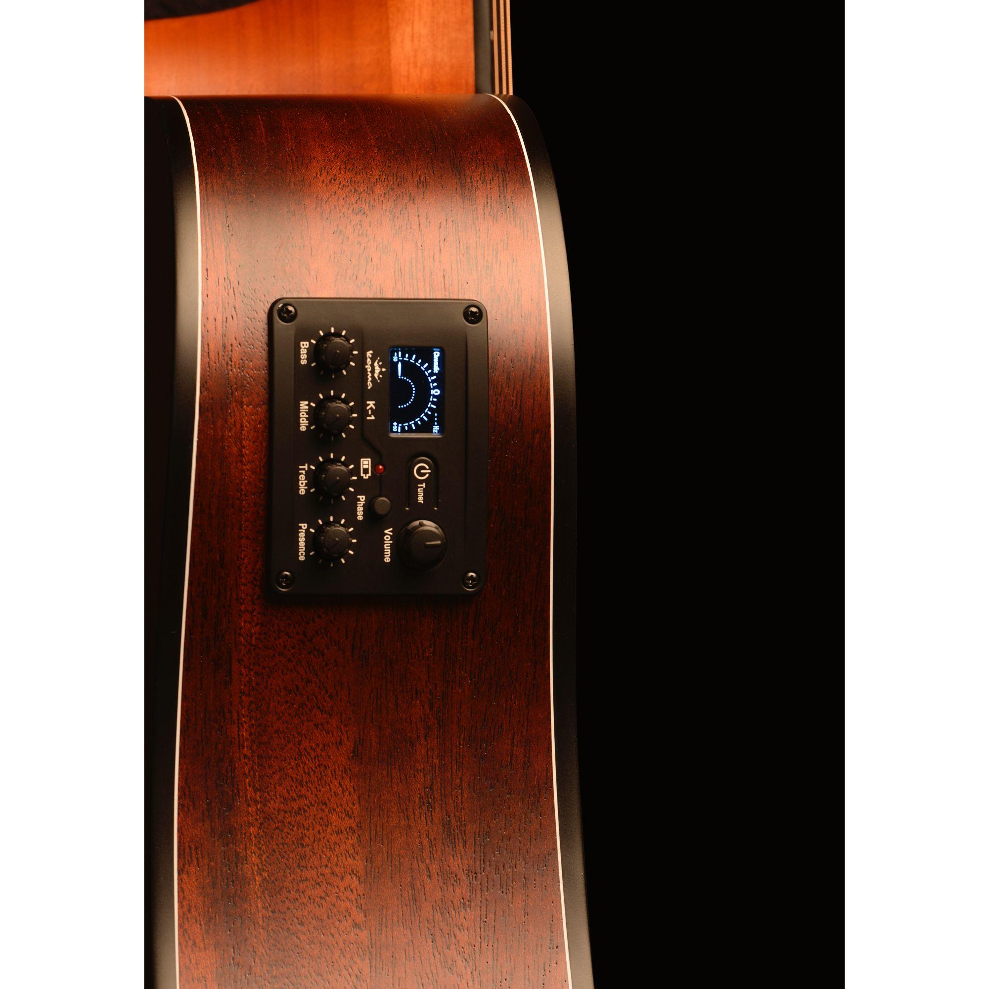 Kepma EAC-E Semi - Acoustic Guitar - Natural Matt