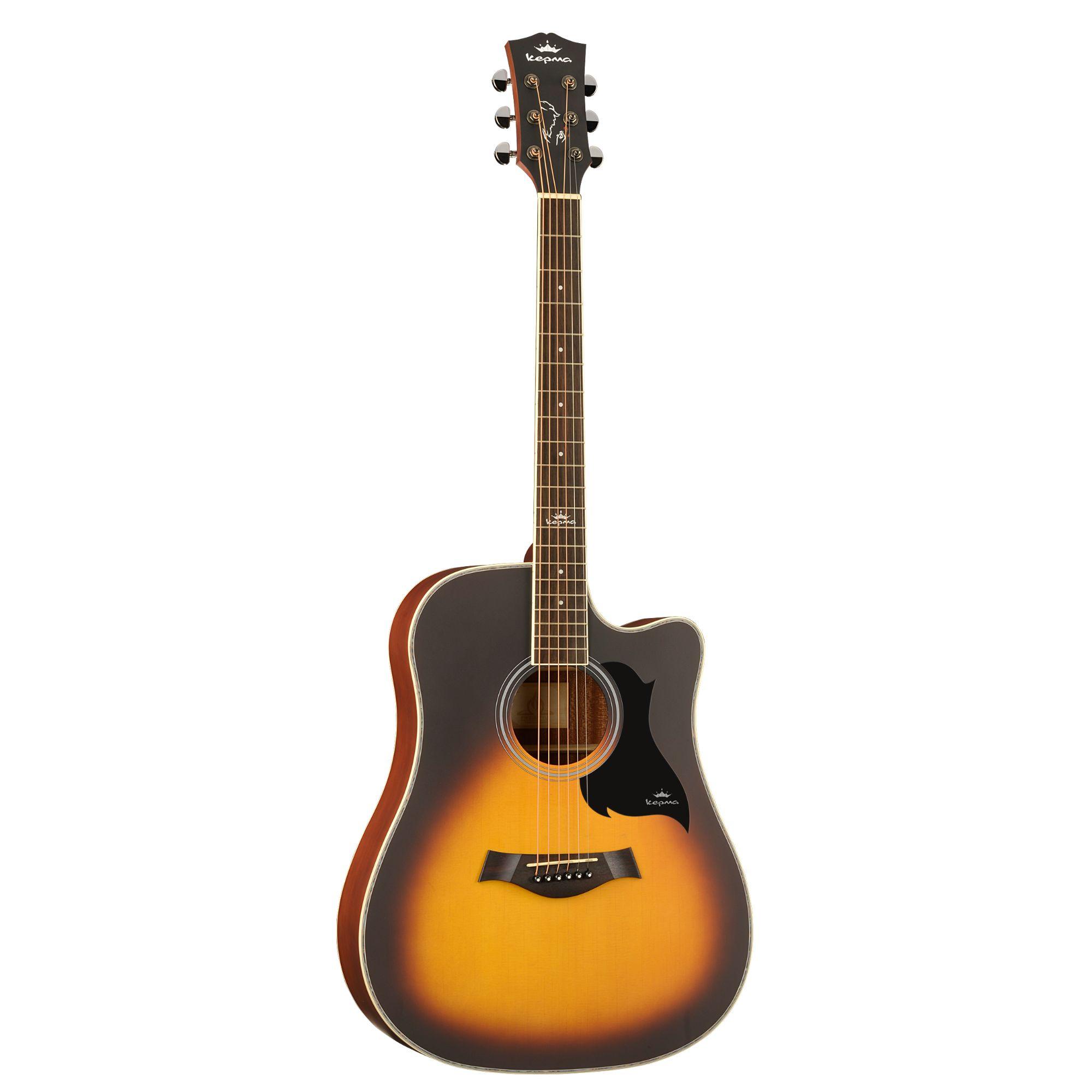 KEPMA D1C  Acoustic Guitar-- Sunburst Matt