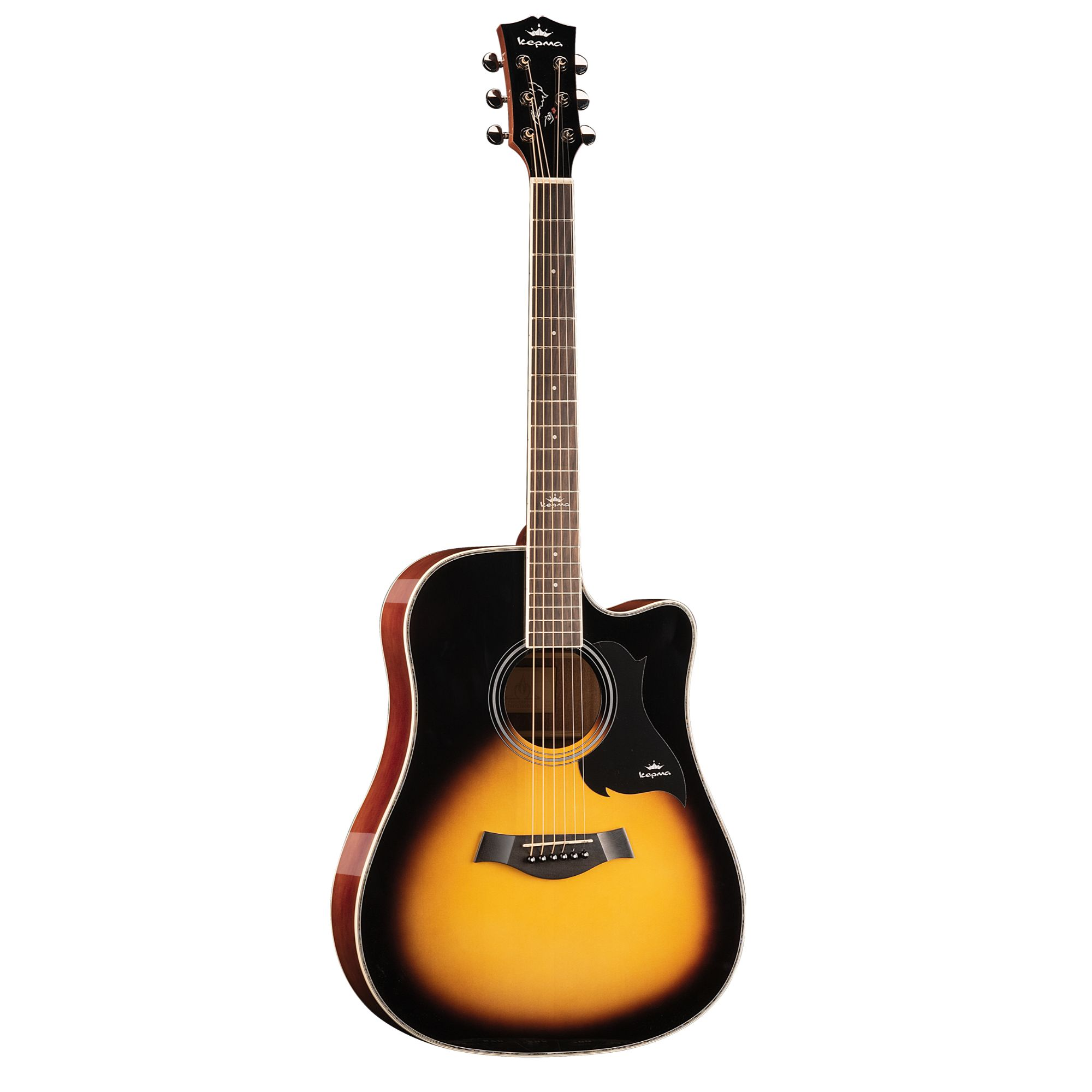 KEPMA D1C  Acoustic Guitar-- Sunburst Gloss