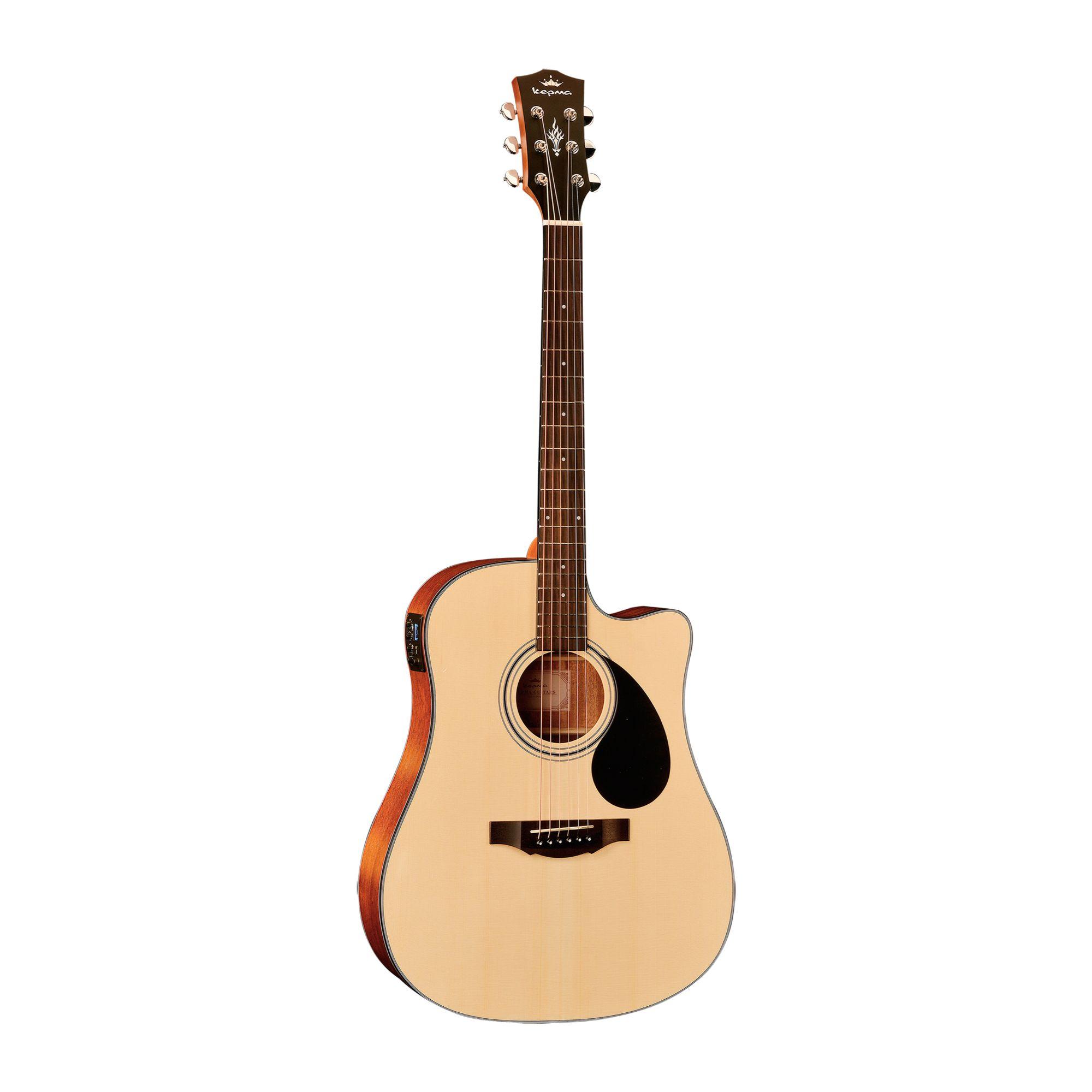 KEPMA EDC-E Semi- Acoustic Guitar - Natural Matt