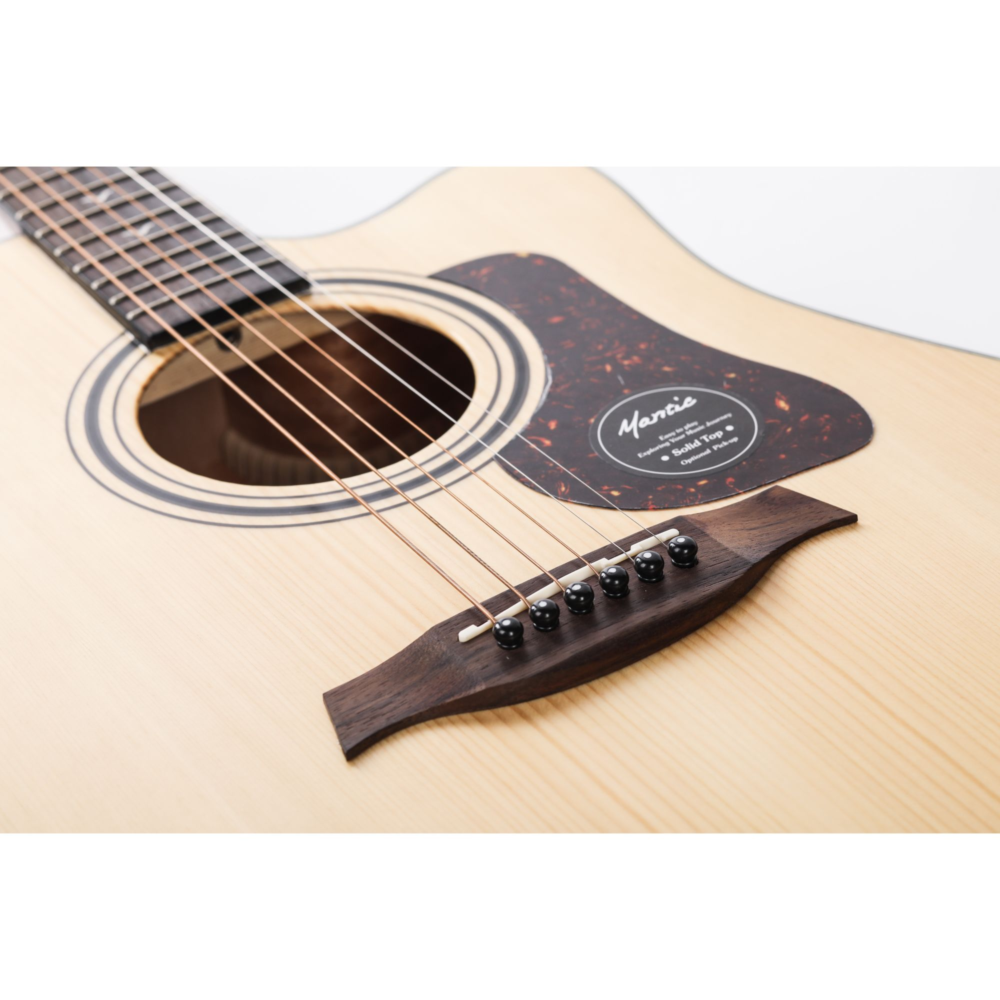 Mantic GT10DC Solid Top Acoustic Guitar - Natural