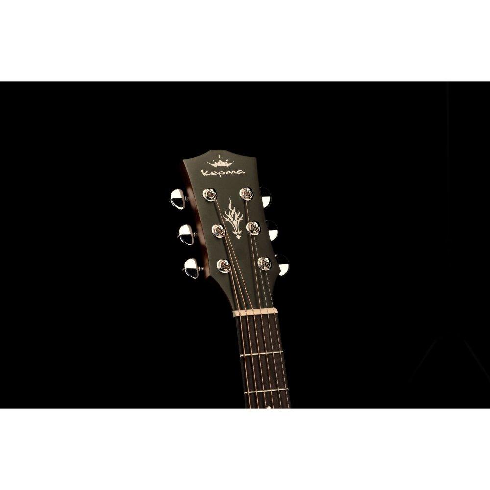 Kepma EDC Acoustic Guitar - Black Matt