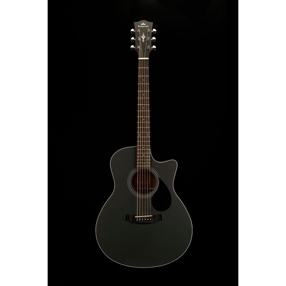 Kepma EAC Acoustic Guitar - Black Matt