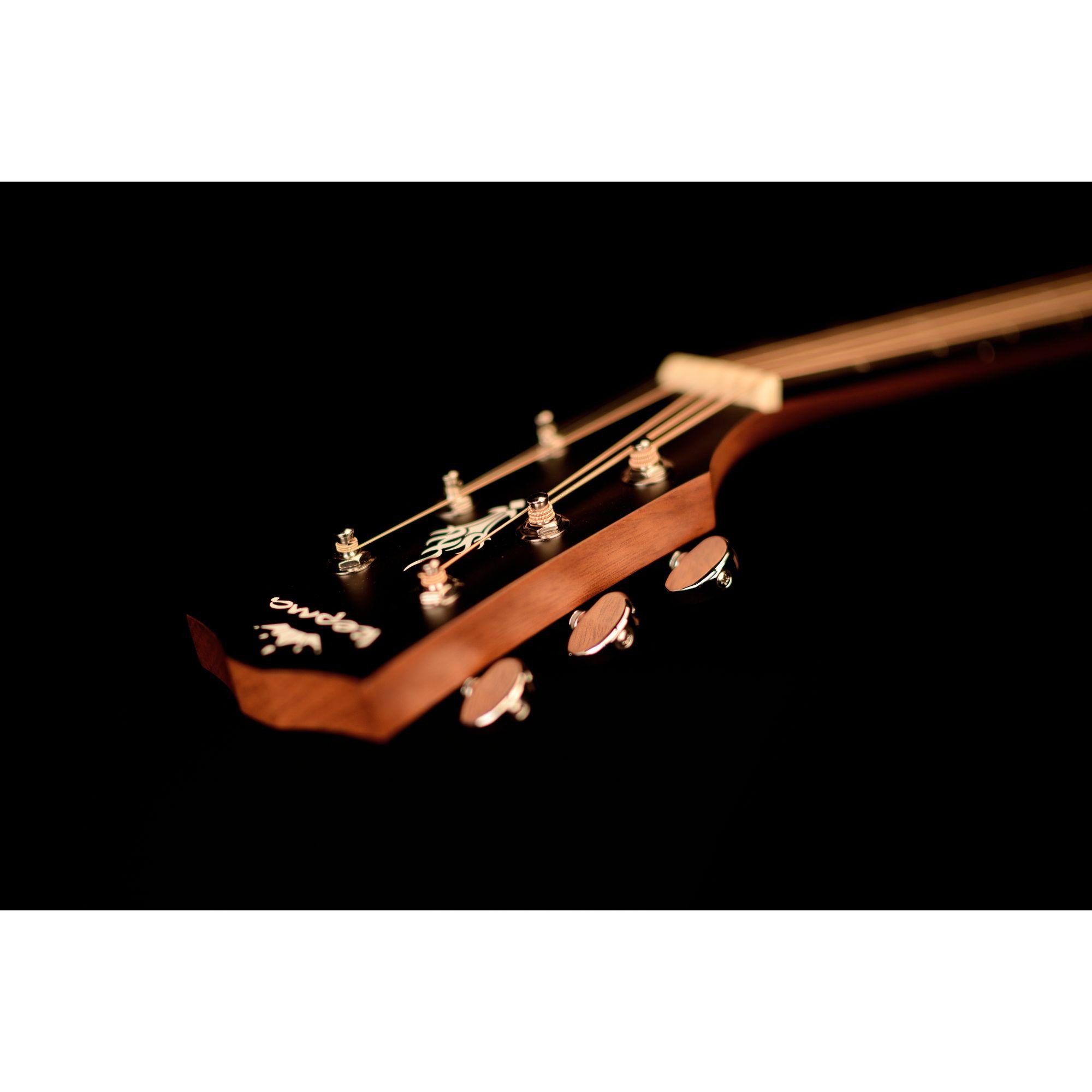 Kepma EAC-E Semi - Acoustic Guitar - Black Matt