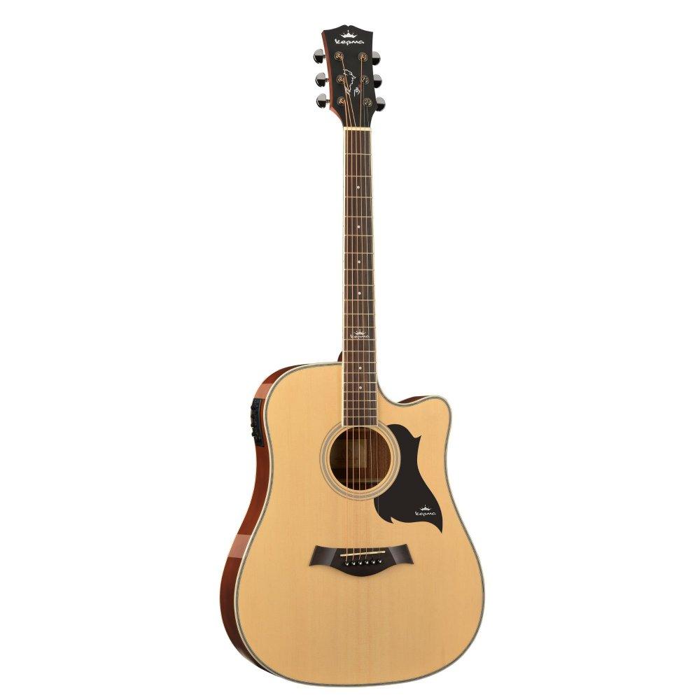 Kepma D1CE - Semi Acoustic Guitar- Natural Gloss