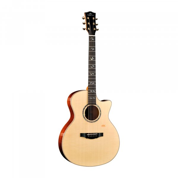 Kepma A1E GA All Solid Grand auditorium cutaway shape guitar with Lr baggs stage pro anthem pick up