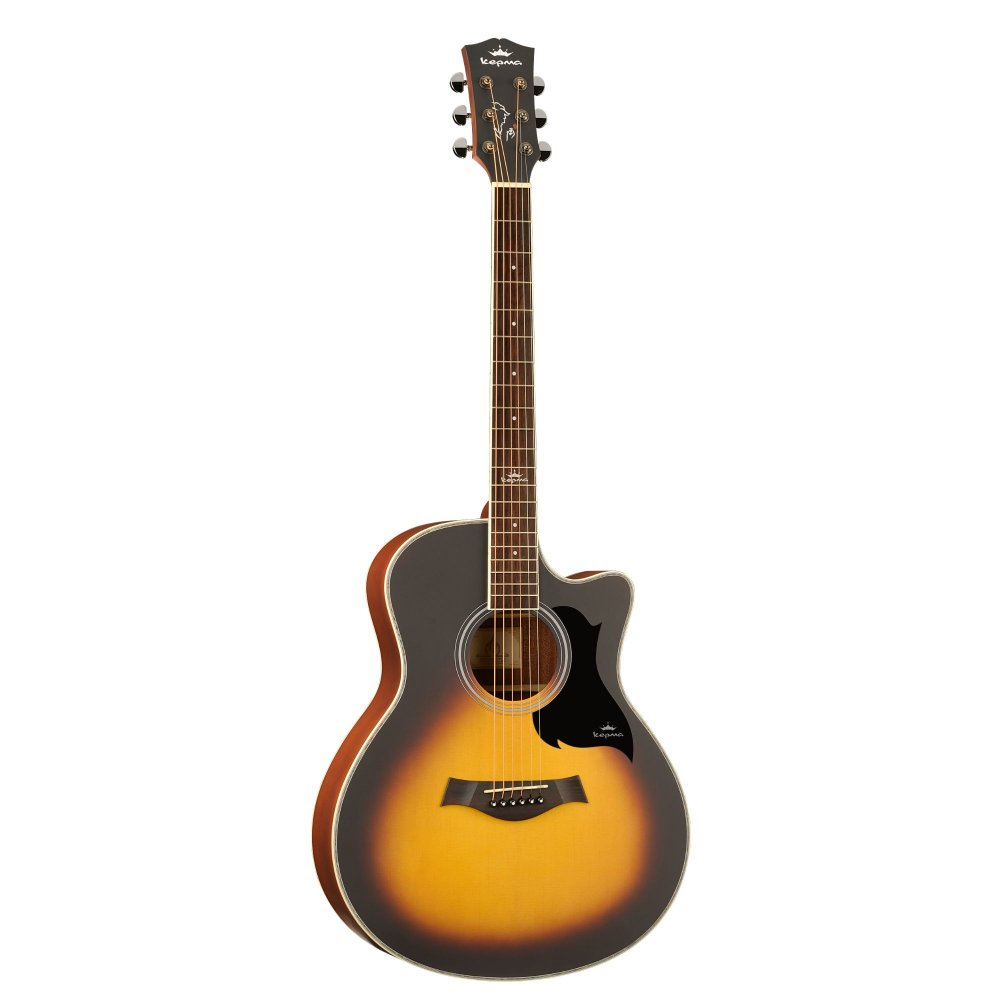 Kepma A1C Acoustic Guitar-  Sunburst Matt