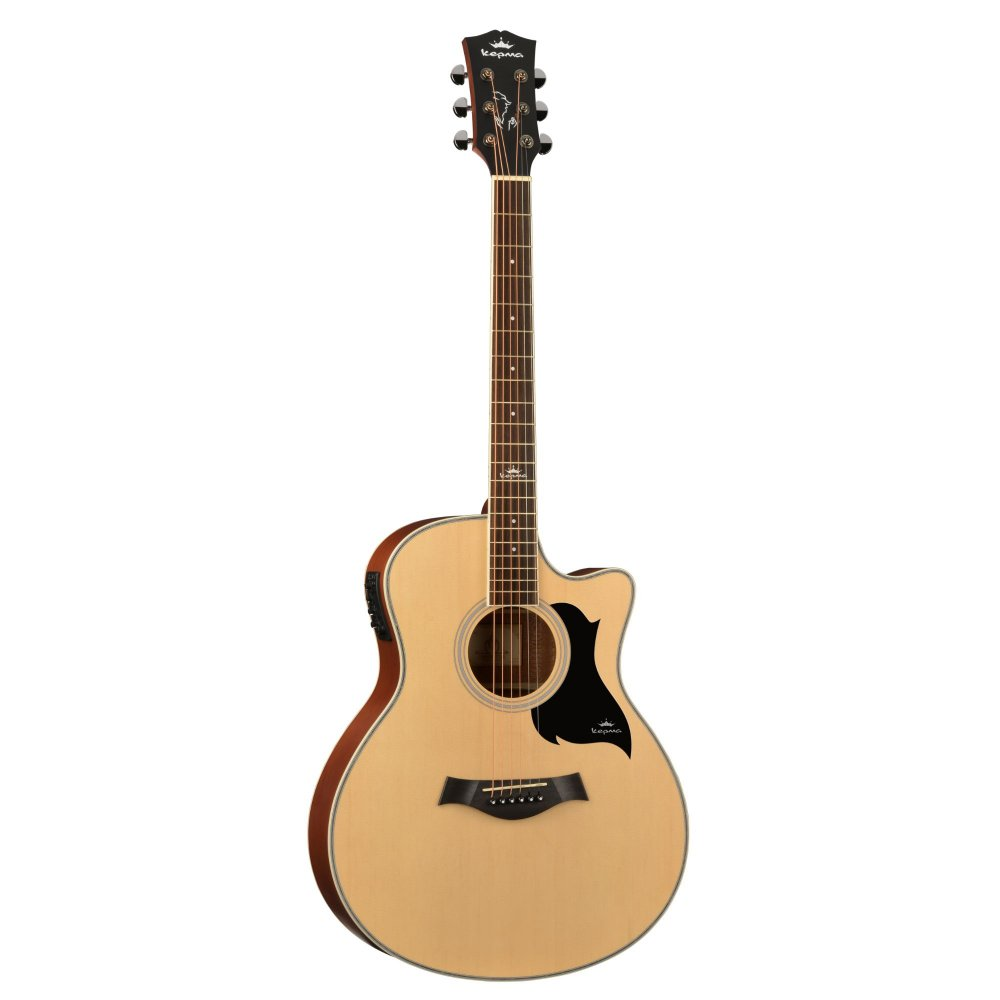 Kepma A1CE - Semi acoustic Guitar-  Natural Matt